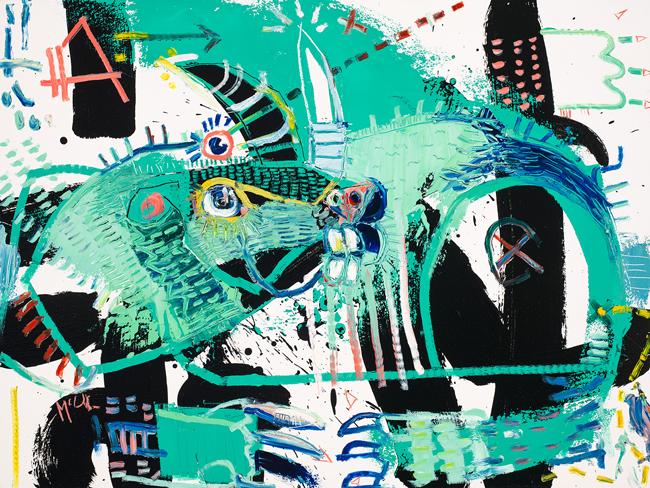 Horned Gopher Daniel McClendon Asheville Fine art modern painting