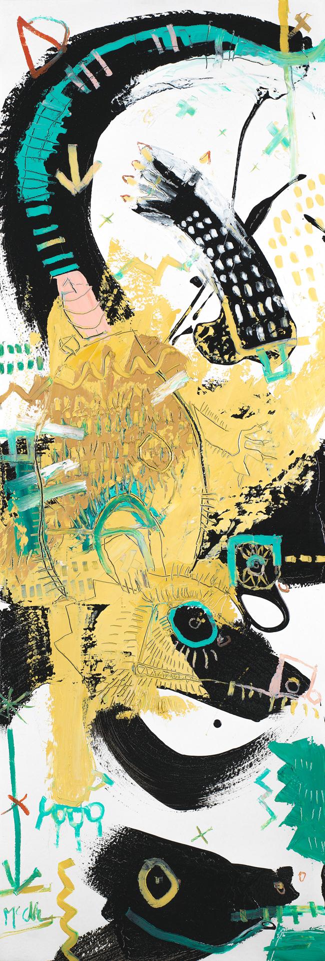 Opossum 2 Daniel McClendon Asheville Fine art modern painting