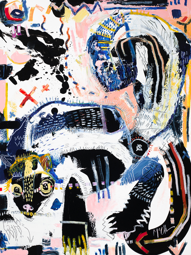 Skunk Abstract animal painting daniel McClendon Asheville