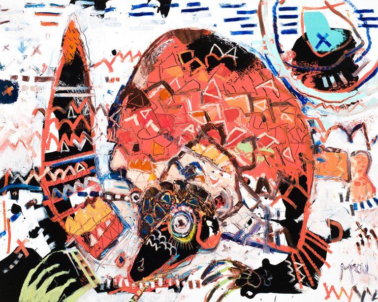 pangolin painting fine art mcclendon asheville