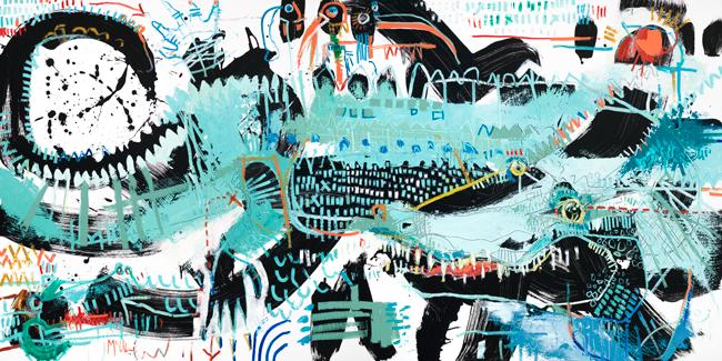 Alligator 3 McClendon Fine art asheville modern