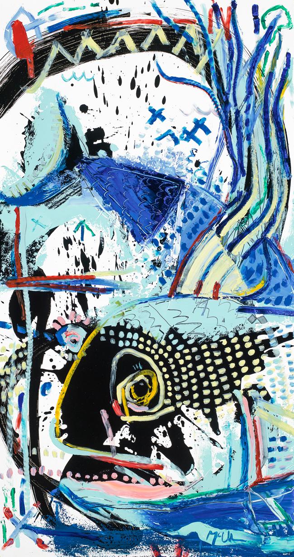 Rooster fish McClendon Fine Art Modern Fine Art Asheville Painting