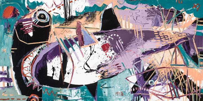 Hammerhead Shark II McClendon Fine Art Modern Fine Art Asheville Painting