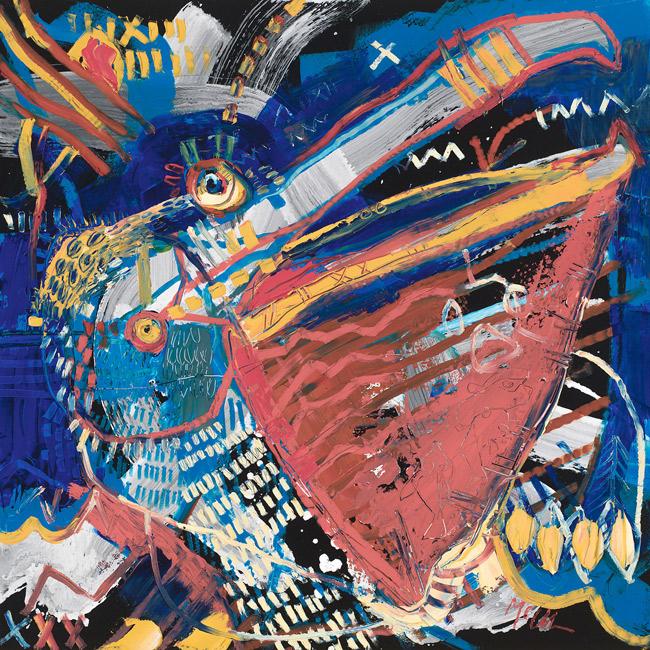 Pelican III McClendon Fine Art Modern Fine Art Asheville Painting