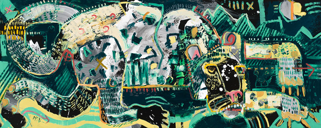Snow Leopard McClendon Fine Art Modern Fine Art Asheville Painting
