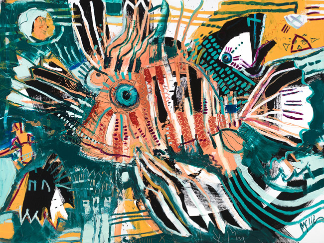 Lionfish McClendon Fine Art Modern Fine Art Asheville Painting