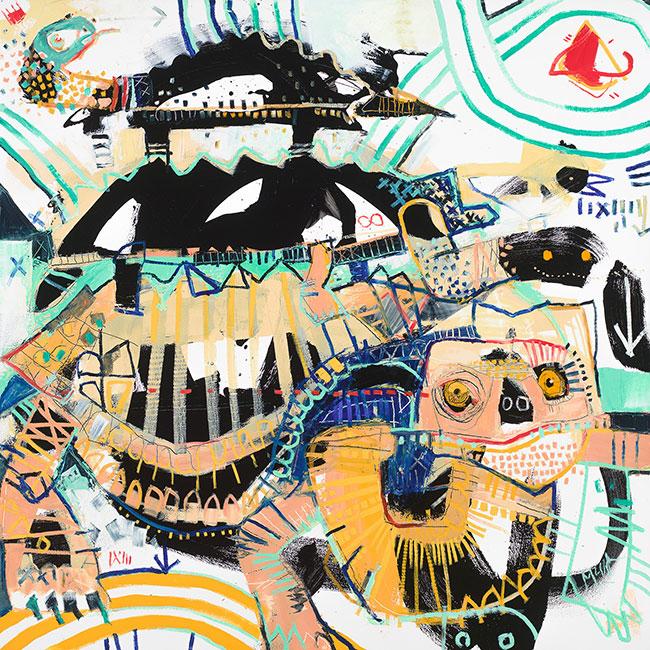Turtles All The Way Down McClendon Fine Art Modern Fine Art Asheville Painting