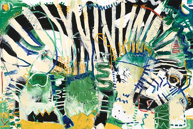 Zebra 4 mcclendon fine art Asheville modern