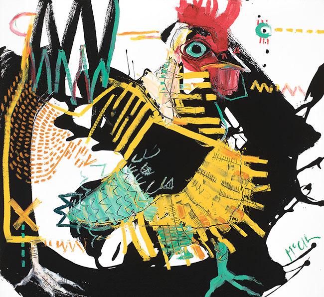 Rooster V McClendon Fine Art Modern Fine Art Asheville Painting