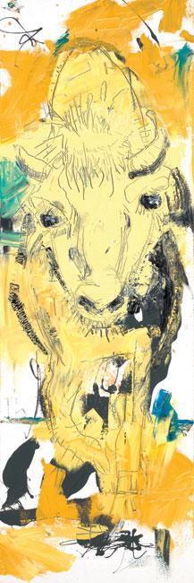 Bison Painting by Artist Daniel McClendon