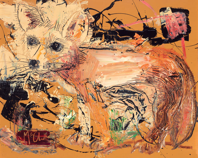 Fox painting by Daniel McClendon Asheville