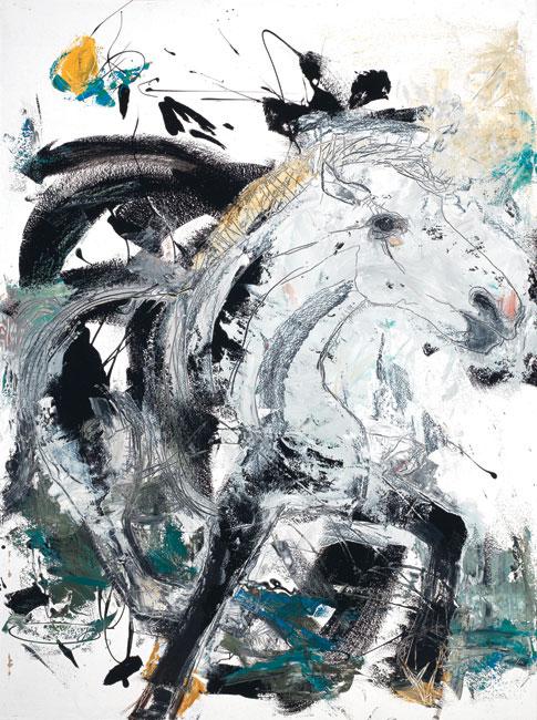 Horse painting by Daniel McClendon